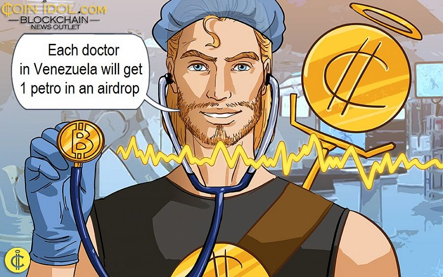 Each doctor in Venezuela will get 1 petro in an airdrop