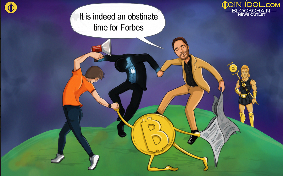 A report that was published by Forbes' cryptocurrency editor known as Michael del Castillo on Tue Aug 27, 05:13pm showing that Paul Schulte.