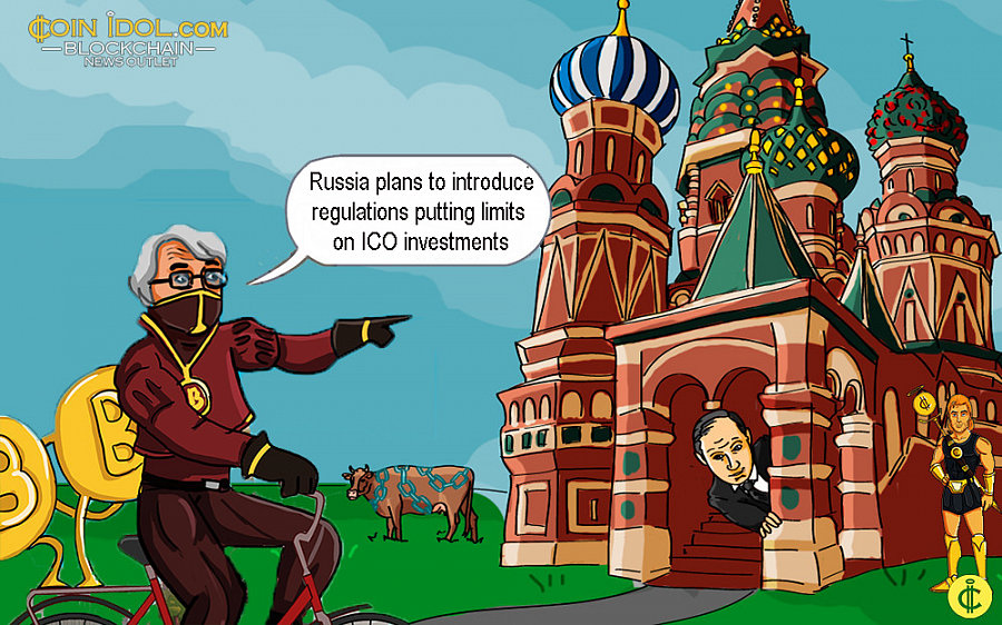 Government officials have released a draft law stating that average Russians will be allowed to invest in ICO no more than $9,000 per year.