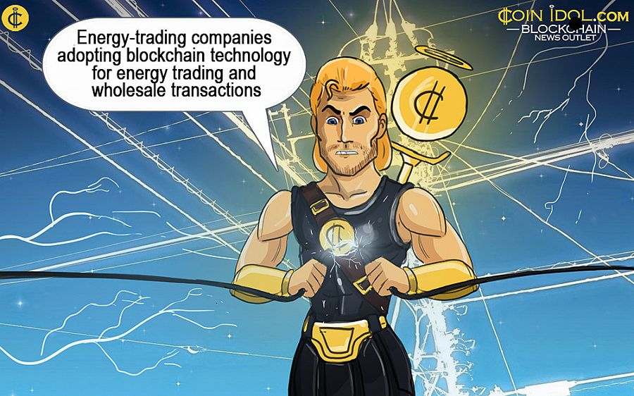 Energy-trading companies adopting blockchain technology for energy trading and wholesale transactions