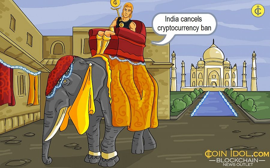 India cancels cryptocurrency ban