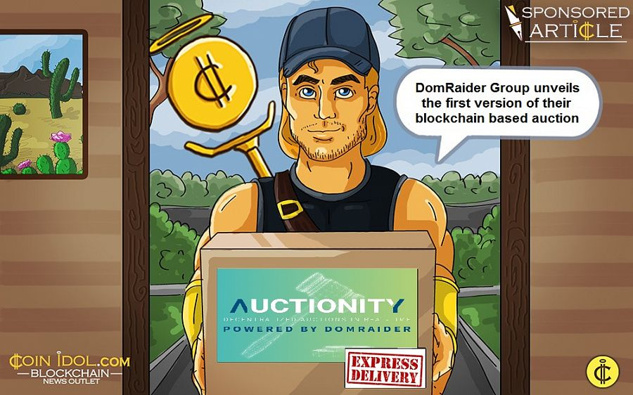 DomRaider Group unveils the first version of their blockchain based auction