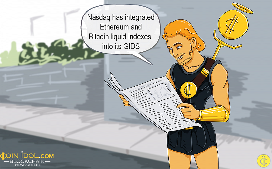 Nasdaq has integrated the long-awaited Ethereum and Bitcoin liquid indexes into its GIDS (Global Index Data Service).