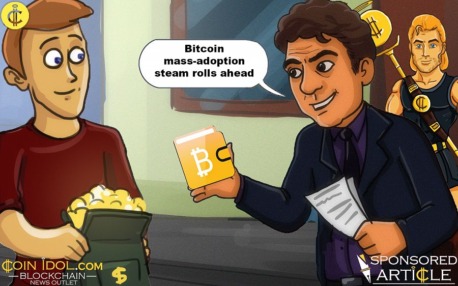 Bitcoin mass-adoption steam rolls ahead
