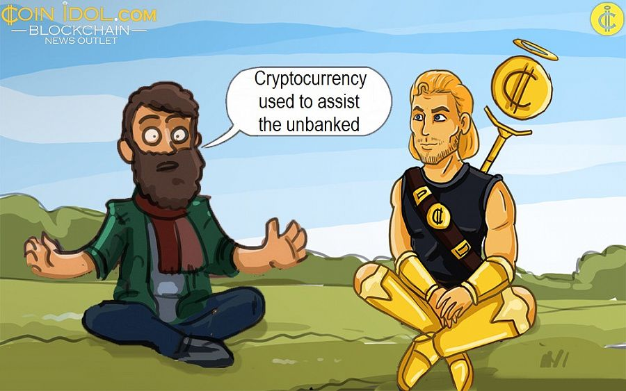 Cryptocurrency used to assist the unbanked