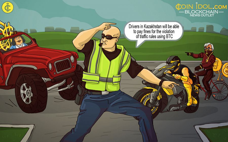 Kazakhstan to accept traffic fines in bitcoin