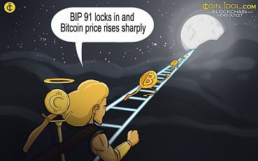 BIP 91 Locks In and Bitcoin Price Rises Sharply