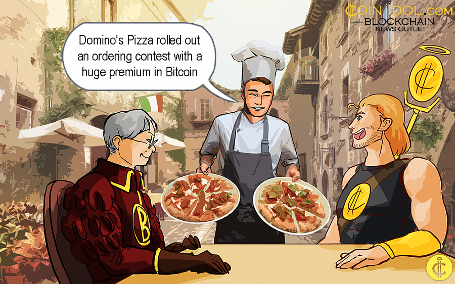 As per the firm's statement via Twitter on Friday September 6, Domino's France introduced the $110K BTC prize competition during the event of its 30th anniversary.