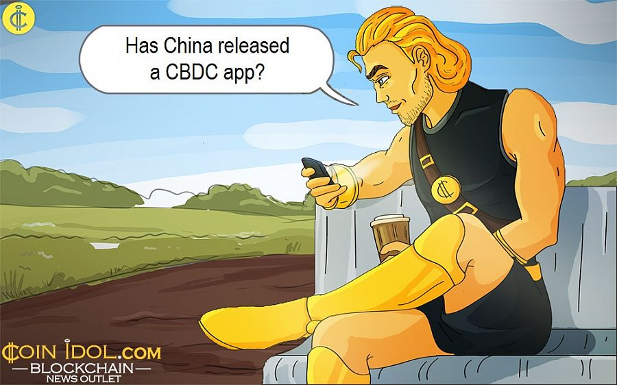 Has China released a CBDC app?