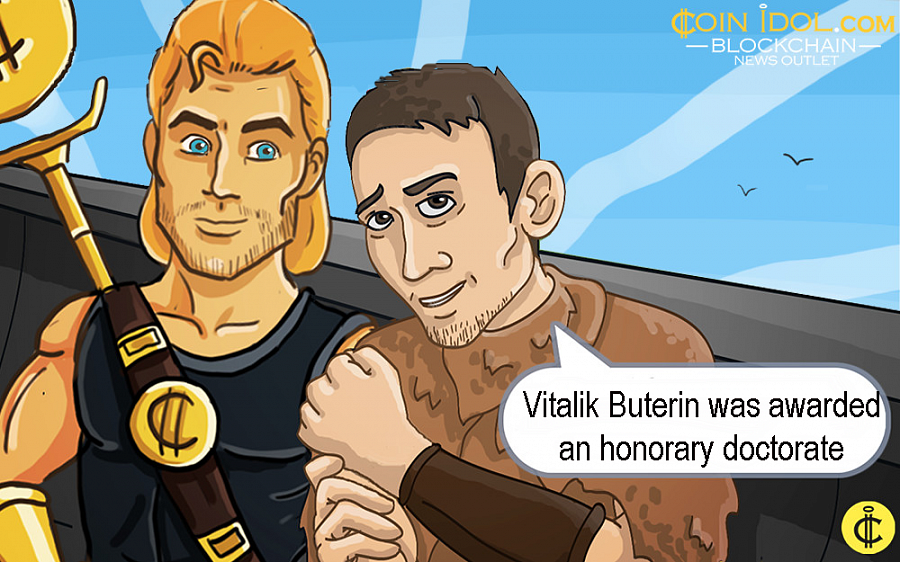The degree was awarded to Buterin by dean Aleksander Berentsen, a professor of economic theory at the University of Basel.