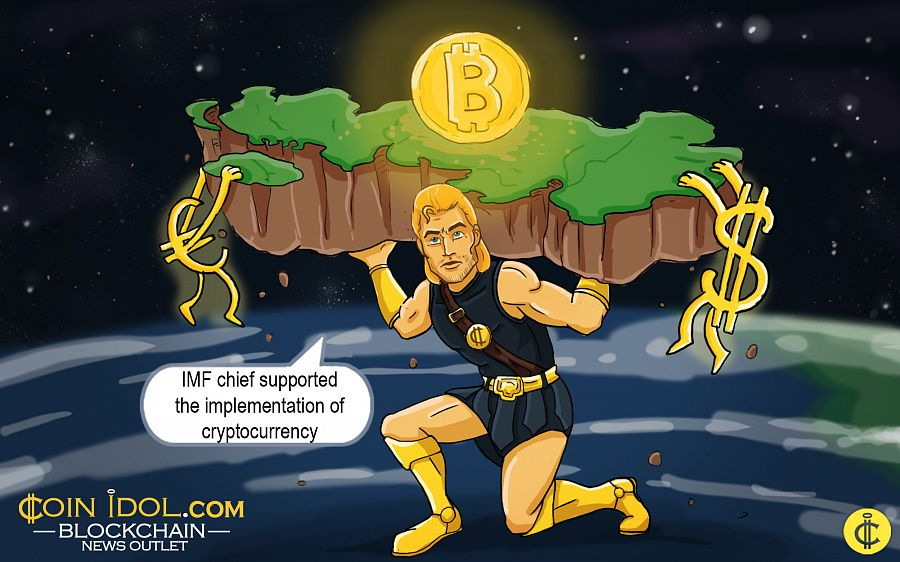 IMF Chief supported cryptocurrency