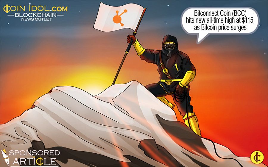 Bitconnect coin bcc hits new all time high at 115 as bitcoin bitconnect coin bcc hits new all time high at 115 as bitcoin price surges stopboris Choice Image
