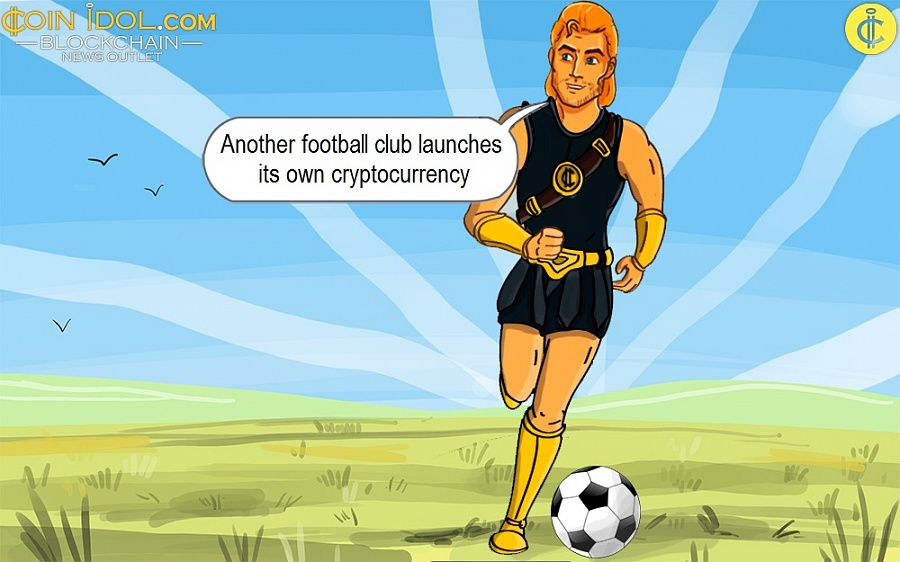 Another football club launches its own cryptocurrency