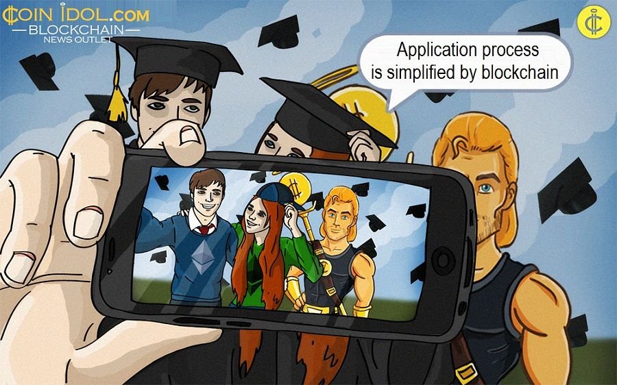Application process is simplified by blockchain