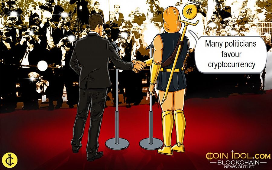 Many politicians favour cryptocurrency