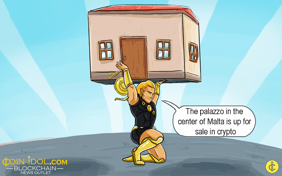 The palazzo is located in the country's capital, Valletta, and can only be bought for virtual coins.