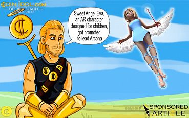 A Cute Augmented Reality Angel Became the Face of Arcona's ICO Campaign