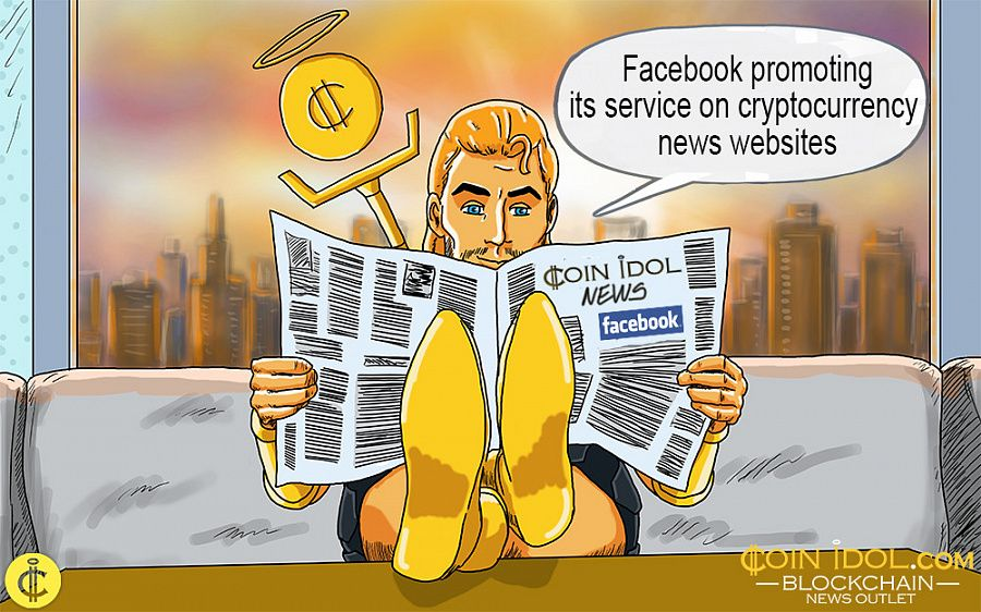 Facebook advertises on cryptocurrency magazines