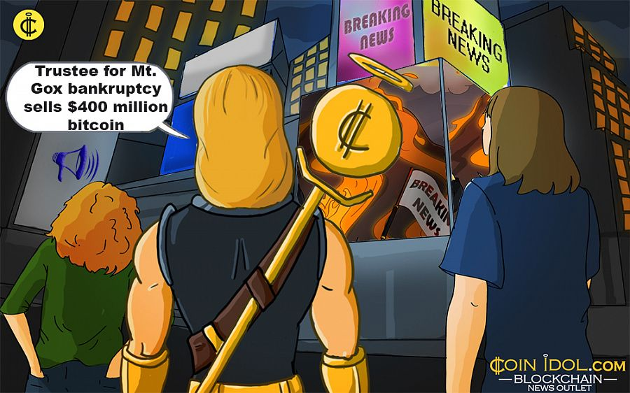 Trustee for Mt. Gox bankruptcy sells bitcoin