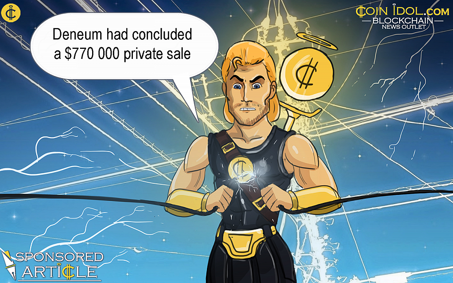 Deneum now gears up for a $89M ICO aiming at reinvention of the $2 Trln global electricity market.