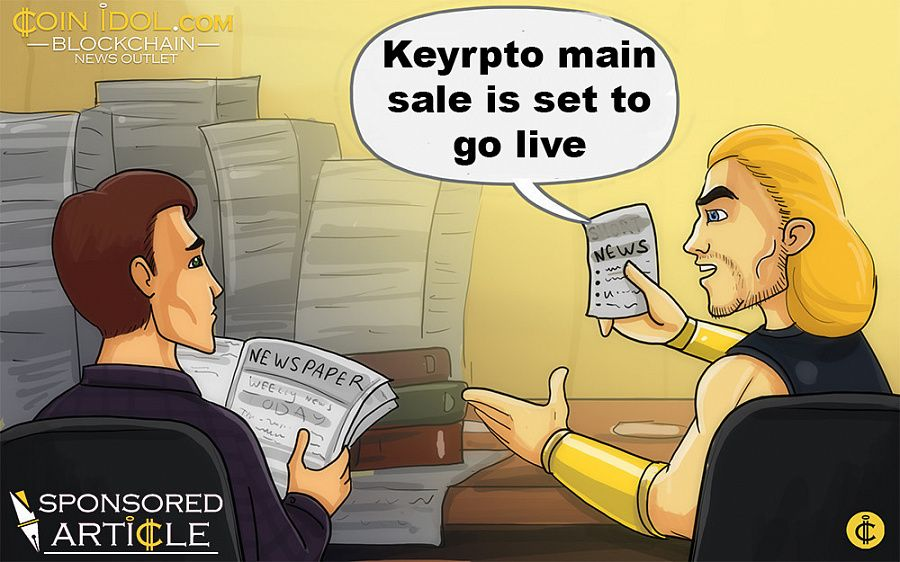 Keyrpto main sale is set to go live