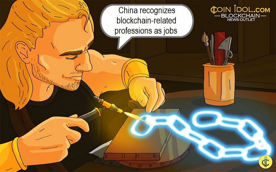 China recognizes blockchain-related professions as jobs