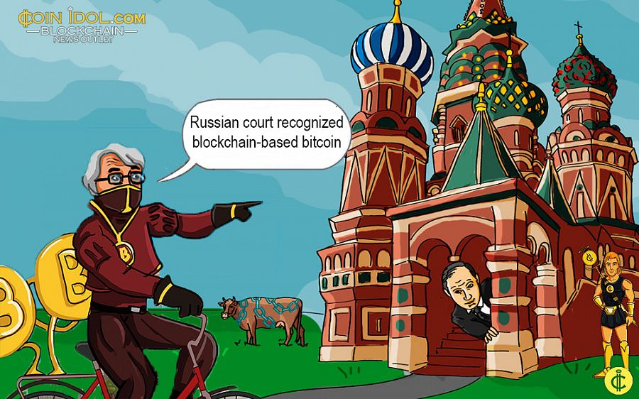 Russian court recognized bitcoin