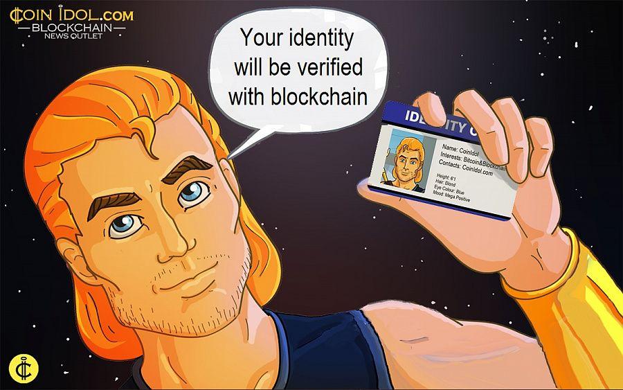 Your identity will be verified with blockchain