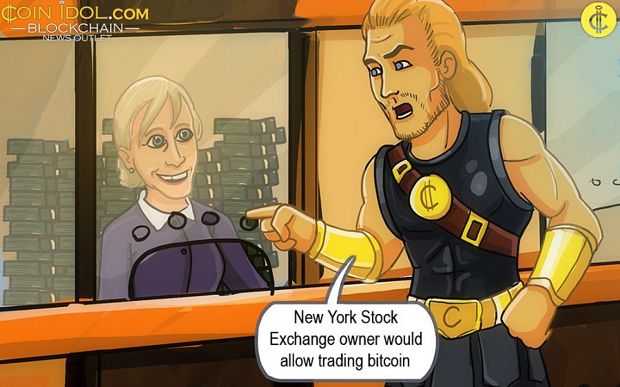 New York Stock Exchange allows bitcoin