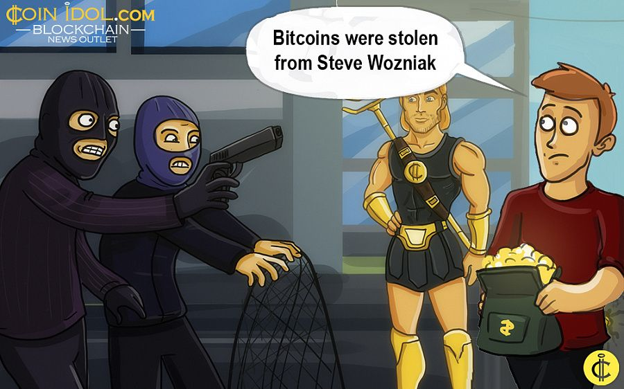 Bitcoins were stolen from Steve Wozniak