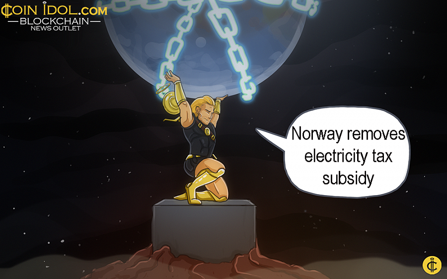 As Aftenposten reported that the government revealed that crypto miners in Norway will be required to pay the usual power tax in 2019.