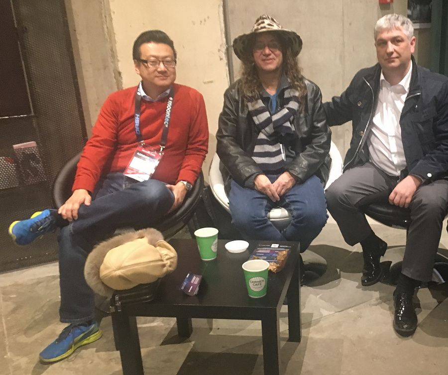 From left to right: the Co-Founder of the AngelVest Fund David Chen, the Founder and CEO of SingulatiryNET Ben Goertzel, the Head of the G-Global Business Portal Denis Tsyro