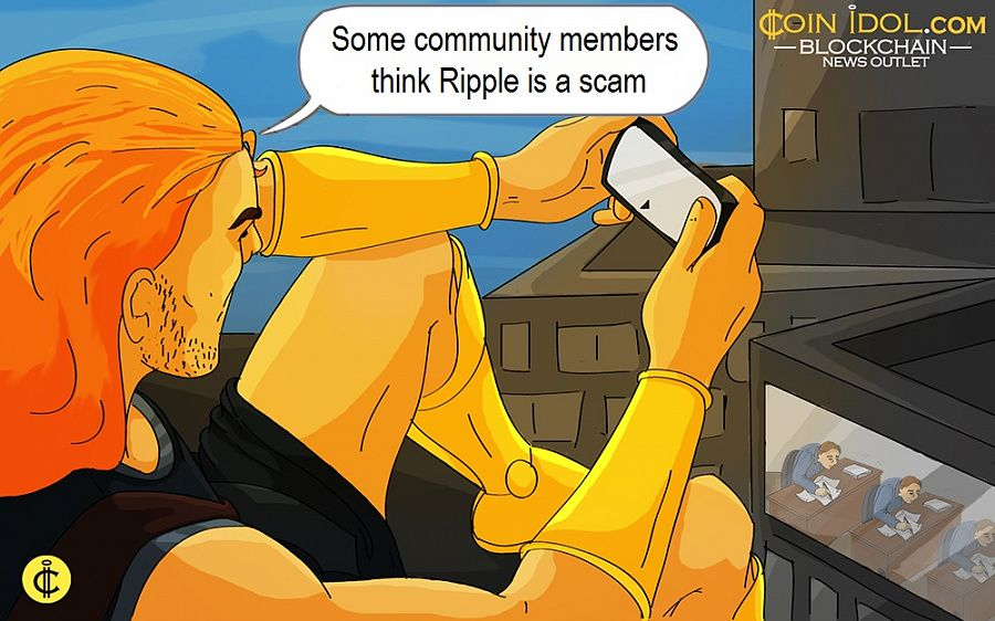Some community members think Ripple is a scam