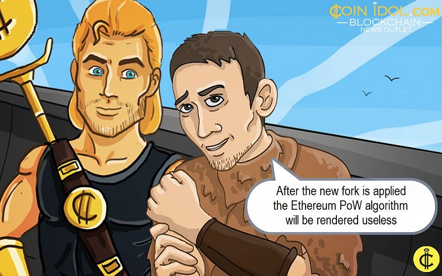 After the new fork is applied the Ethereum PoW algorithm will be rendered useless