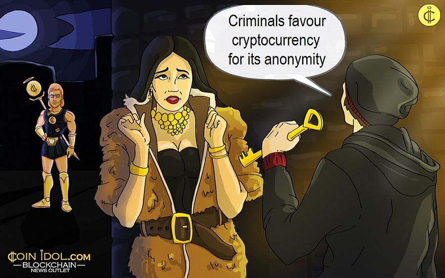 Criminals favour cryptocurrency for its anonymity