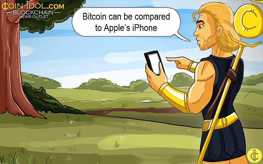 Bitcoin can be compared to Apple's iPhone