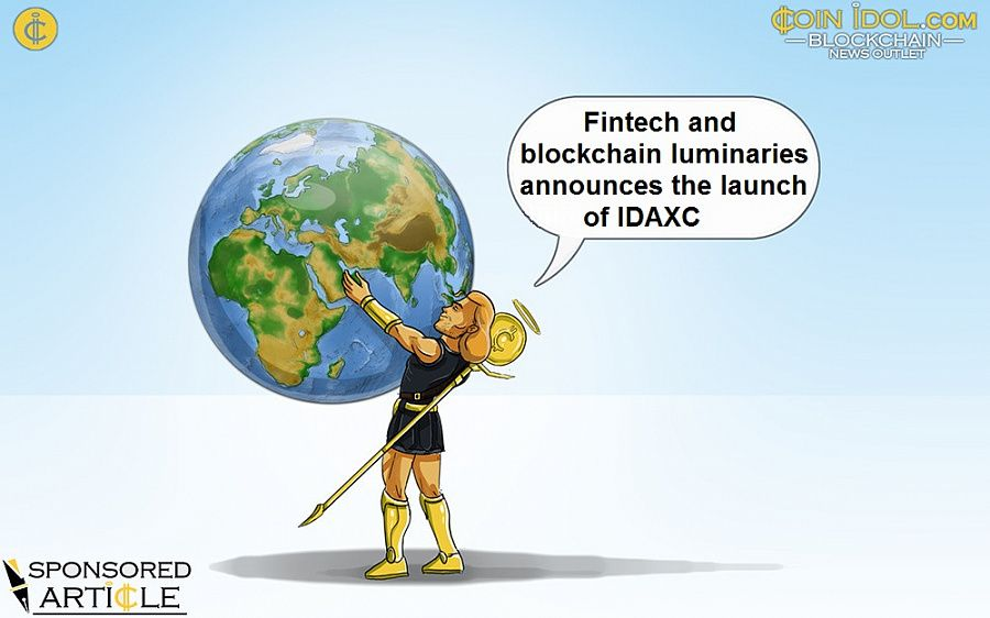 Fintech and blockchain luminaries announces the launch of IDAXC