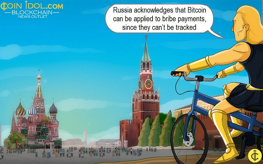 Russia acknowledges that Bitcoin can be applied to bribe payments, since they can't be tracked