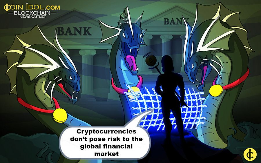Cryptocurrencies don't pose risk to the global financial market