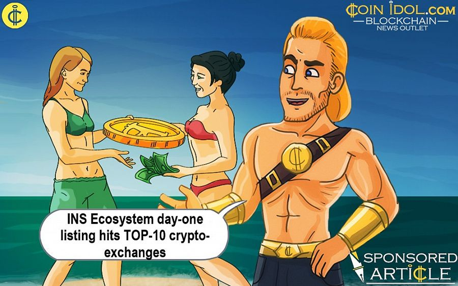 INS ecosystem day-one listing hits TOP-10 crypto-exchanges