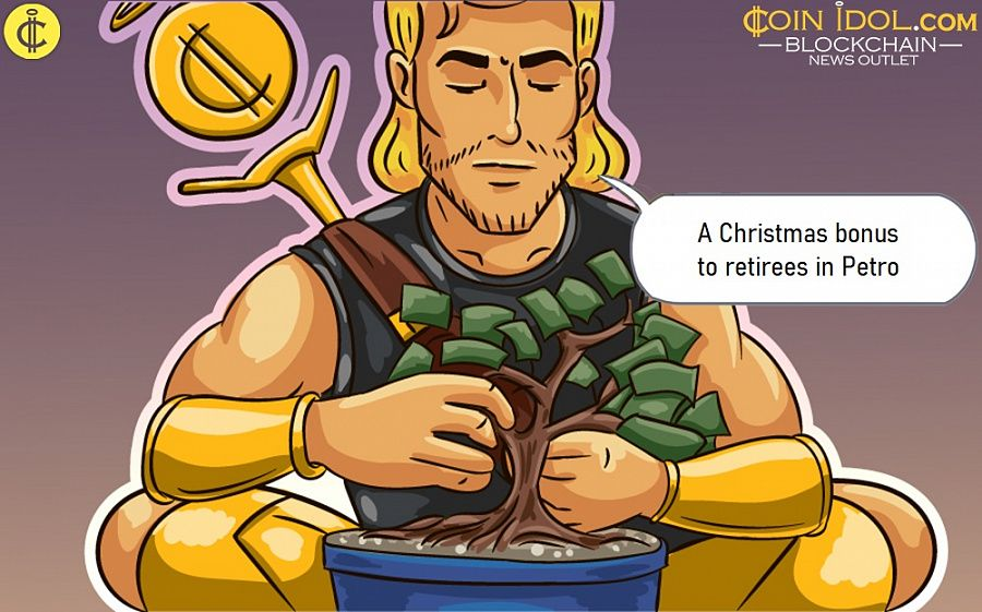 A Christmas bonus to a large number of retirees and pensioners using their own national digital asset called the Petro