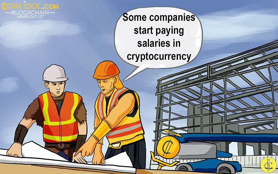 Companies pay cryptocurrency salaries