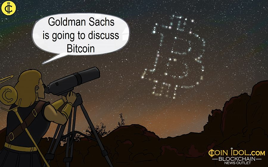 Goldman Sachs is going to discuss bitcoin