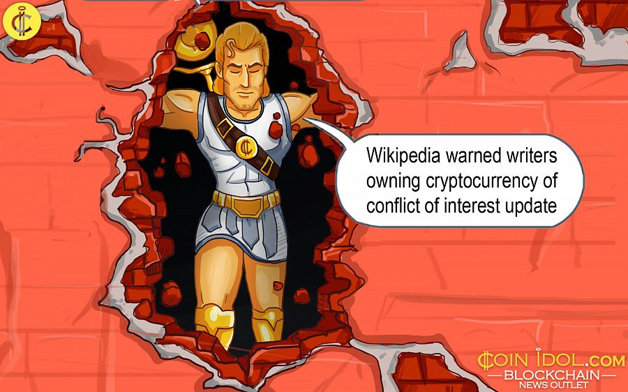 Wikipedia warned wtirers of conflict of interest