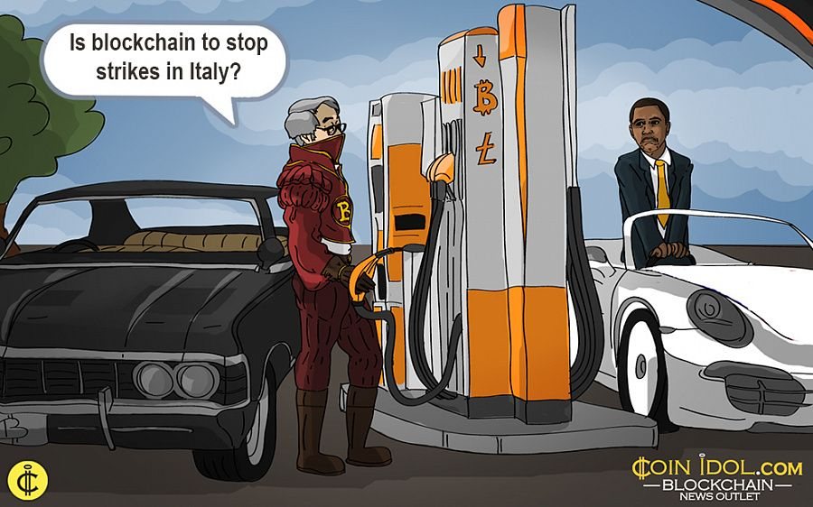 M5S uses blockchain