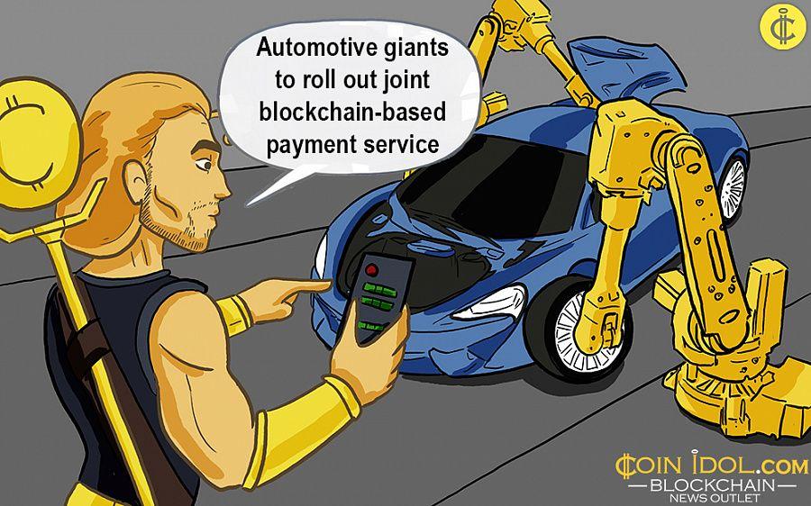 Automotive giants to release a blockchain service