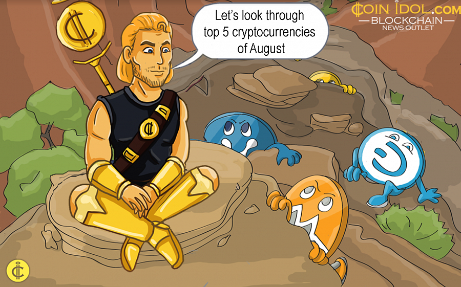 Let's look through top 5 cryptocurrencies of August.