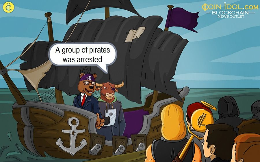 A group of pirates was arrested
