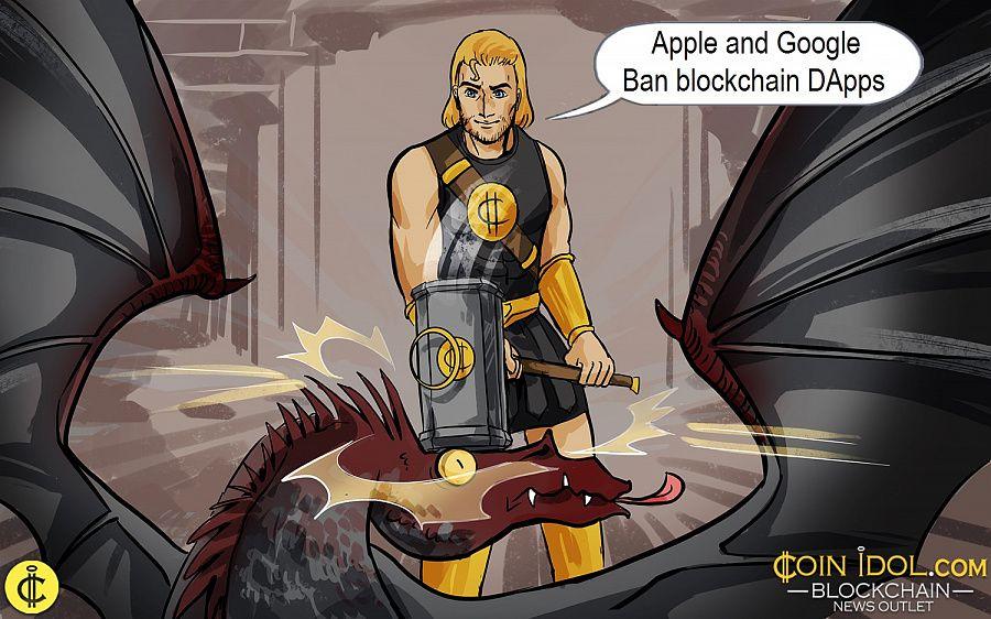 Apple and Google Ban blockchain DApps