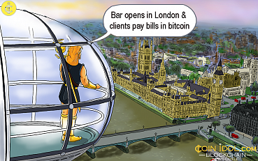 Hipster Bar Officially Opens in London & Clients Can Now Pay Bills in Bitcoin